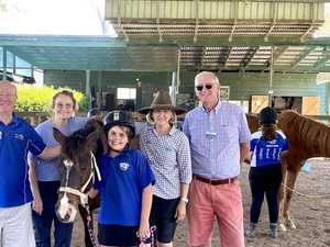 Innovative therapy with horses helps students be strong