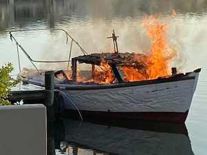 Devastated: 'Loved' boat destroyed in blaze