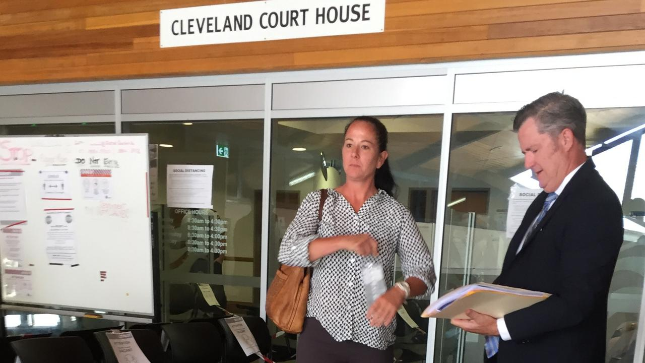Bridgette Walls with defence solicitor Bernhard Bradley at Cleveland Magistrates Court. Picture: Marcel Baum