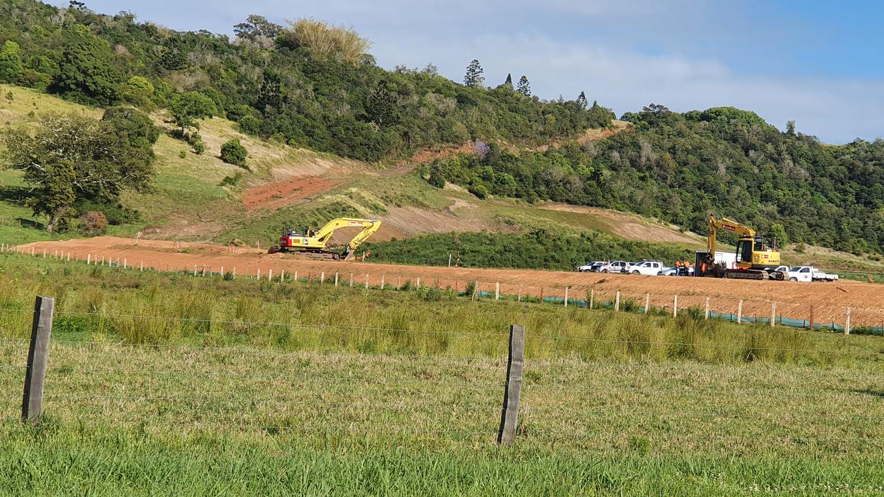 Activity at North Lismore Plateau site.