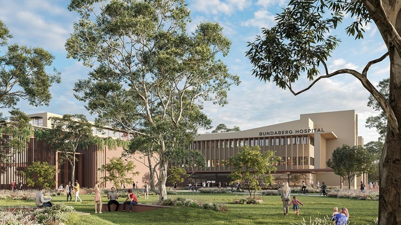 Bundaberg Hospital Artist Impression Plan. Picture: Queensland Health