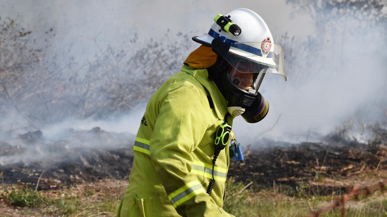 ON SCENE: Eight RFS crews remain at the scene of the large vegetation fire. Picture: Zizi Averill