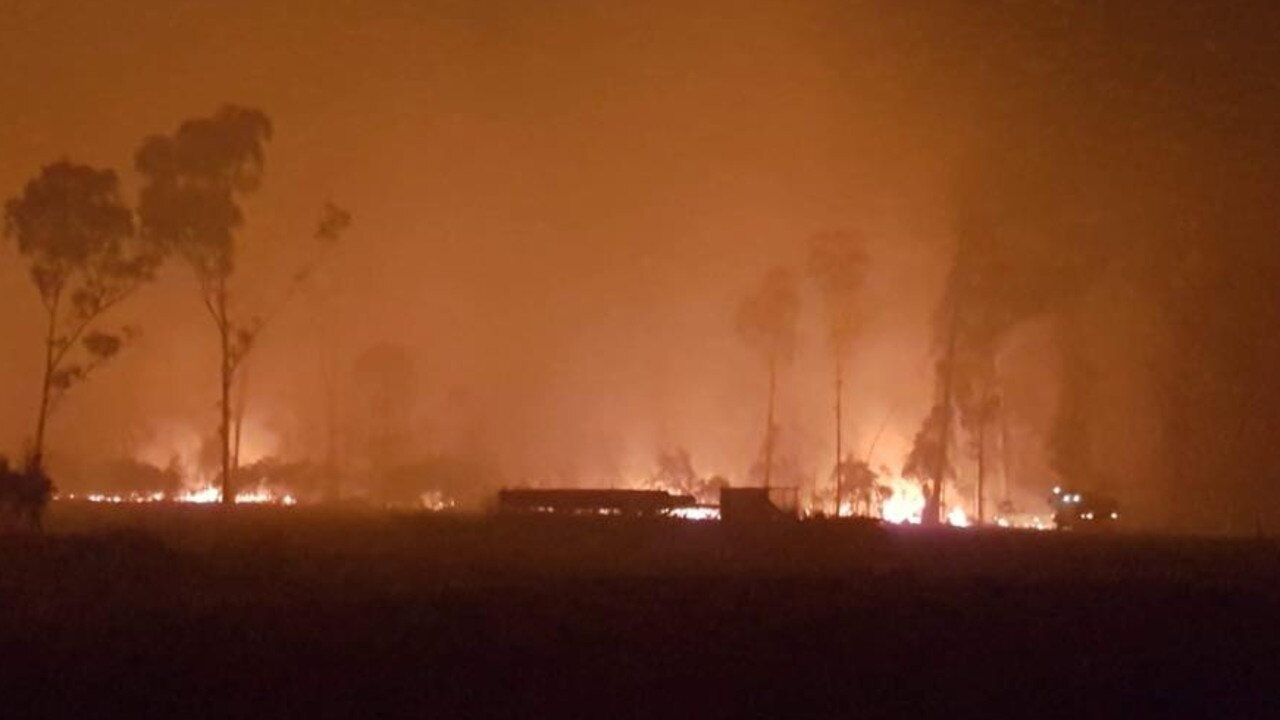Bushfire consumers part of Lake Mary Rd, Yeppoon last year. Picture: Stacey Barry