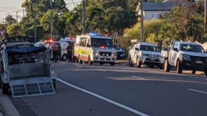 Child hit by car on suburban street