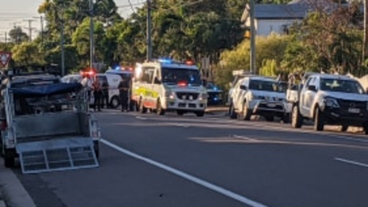 The scene at Ackers St, Hermit Park. Picture: Matt Taylor