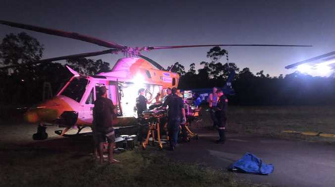 Skater flown to hospital after serious fall