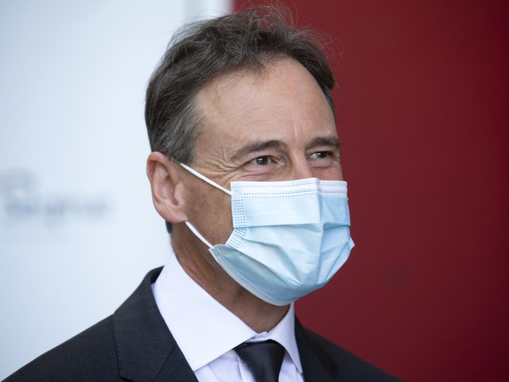 Health Minister Greg Hunt defended the government's rollout of protective equipment. Picture: NCA NewsWire/Sarah Matray