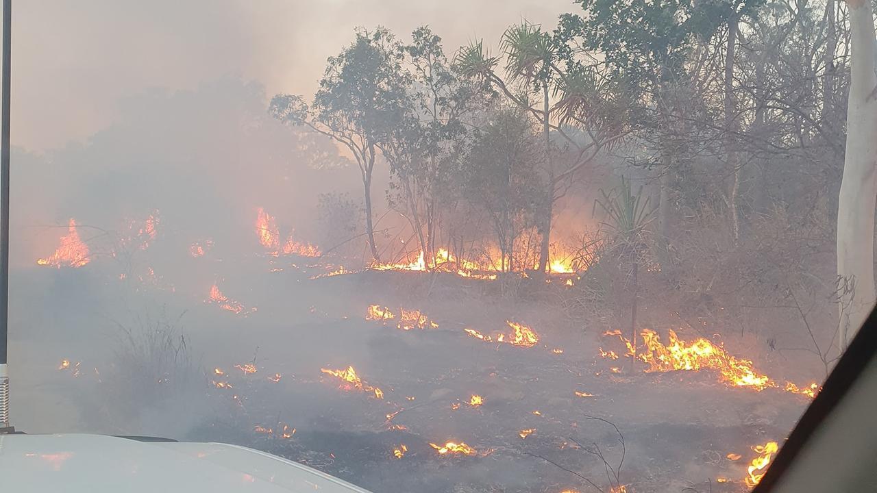 A bushfire burning near Whitsunday Paradise estate last week. Picture: Bowen Delta Rural Fire Brigade