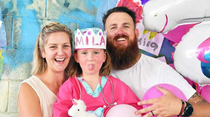 Brave Mila kicks cancer's butt after hard two years