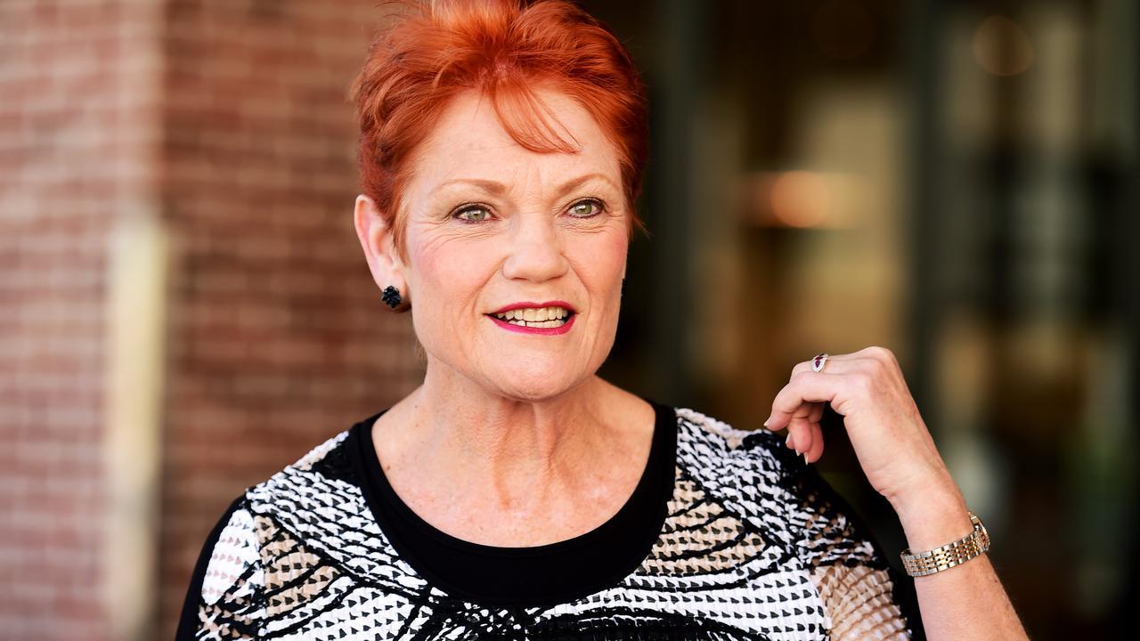 Pauline Hanson in Townsville. Picture: Alix Sweeney