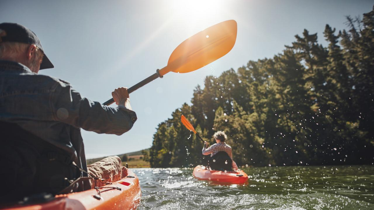 Kayaking at Colleges Crossing is a popular warm-weather activity.