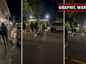 WARNING: DISTURBING. Shocking video of street violence in Alice Springs