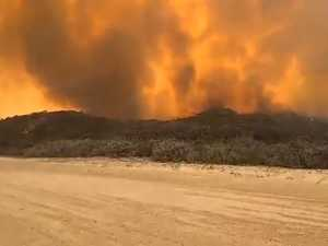 Fraser Island Bush Fire Monday November 30