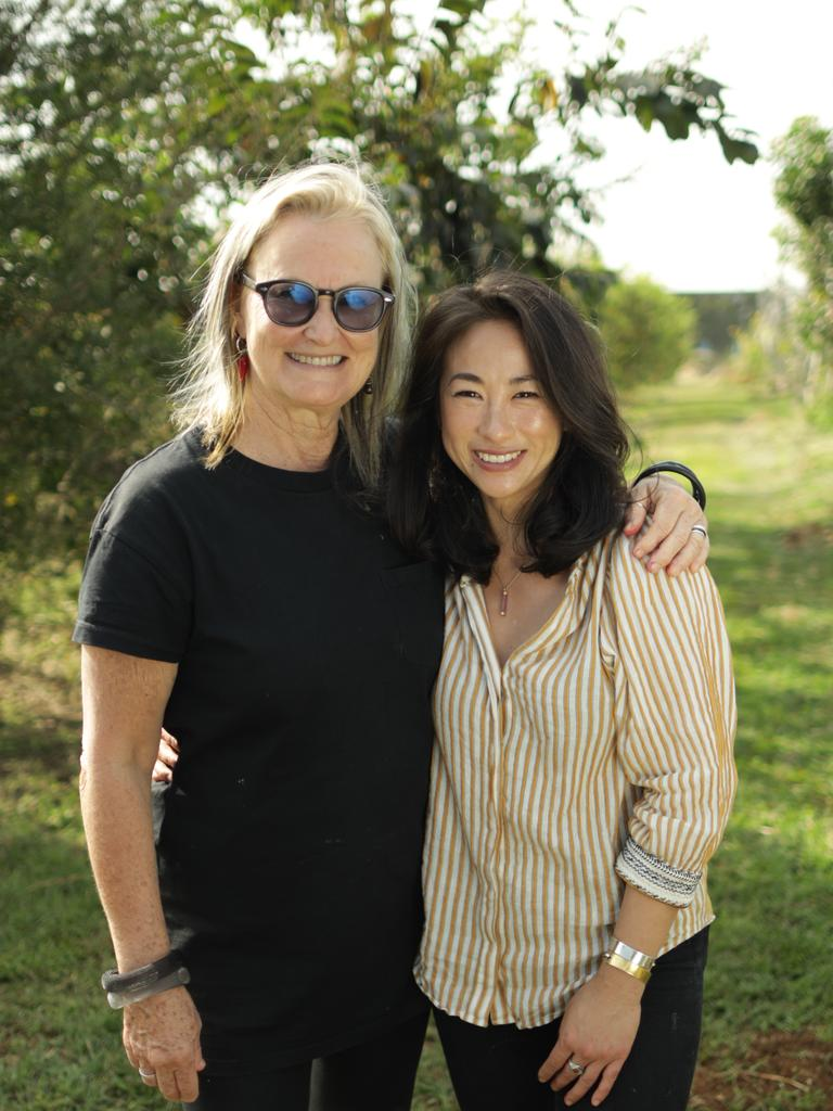 TV presenter Palissa Anderson with Pan-Asian chef Christine Manfield in the first episode of Water, Heart, Food.