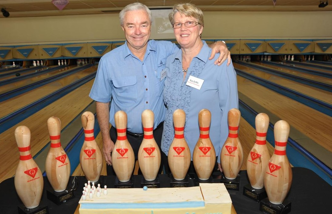 Suncity Bowl owners John and Sue Griffin.