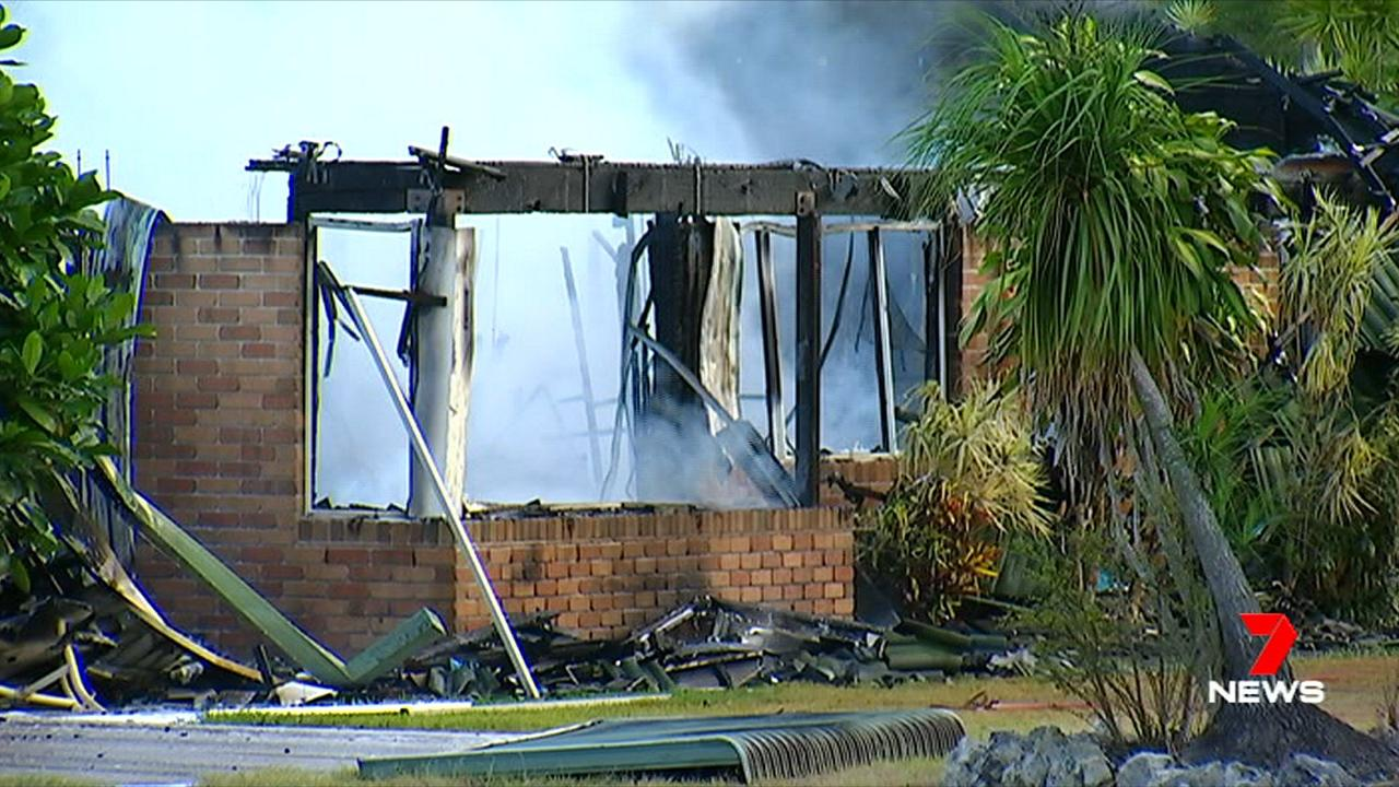 The Beelbi Creek home was destroyed in a fire.
