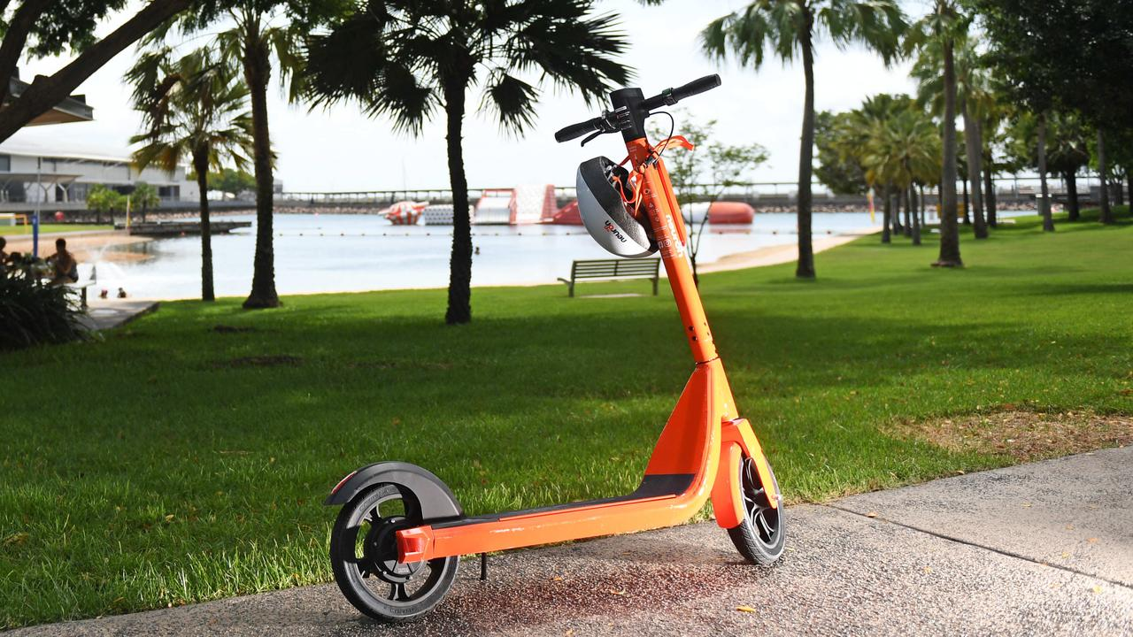 A man in his 50s has been seriously injured during an alleged fight with a group of teens riding scooters.
