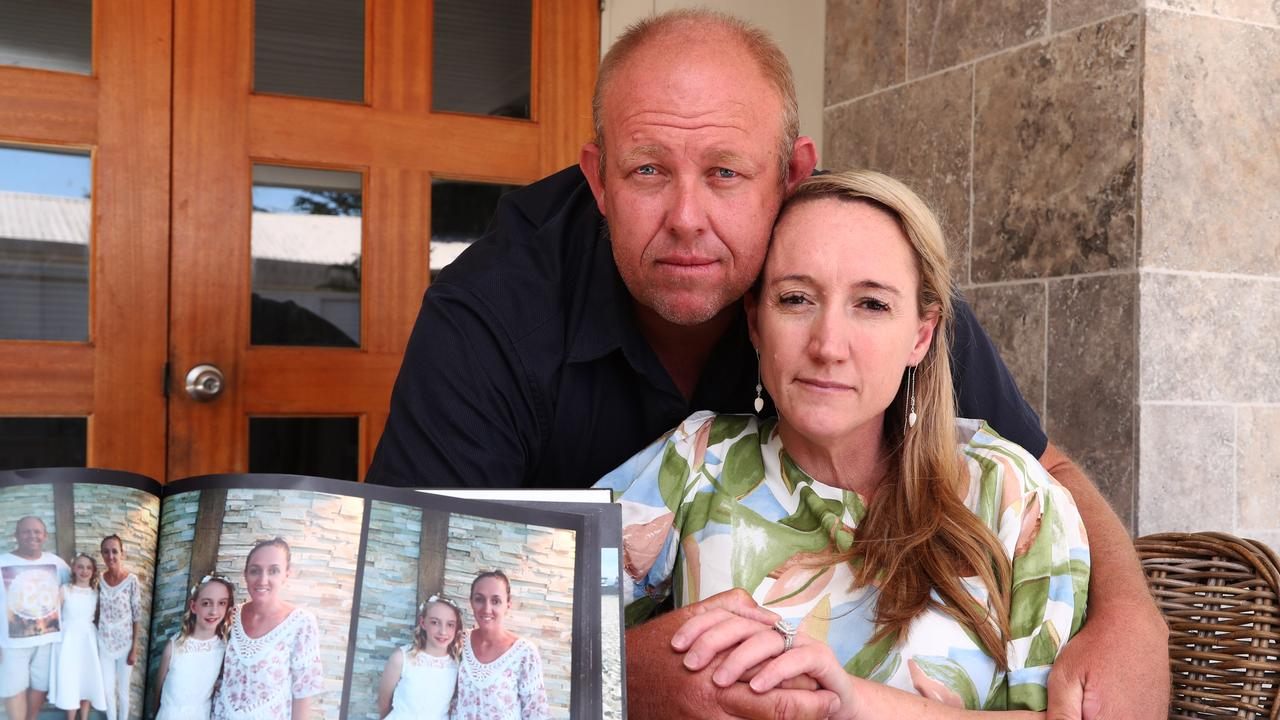 Natalie and Darren Dobbie, who lost their 13-year-old daughter Lara to suicide in February 2019, pictured at their home in Miami. Photograph: Jason O'Brien.