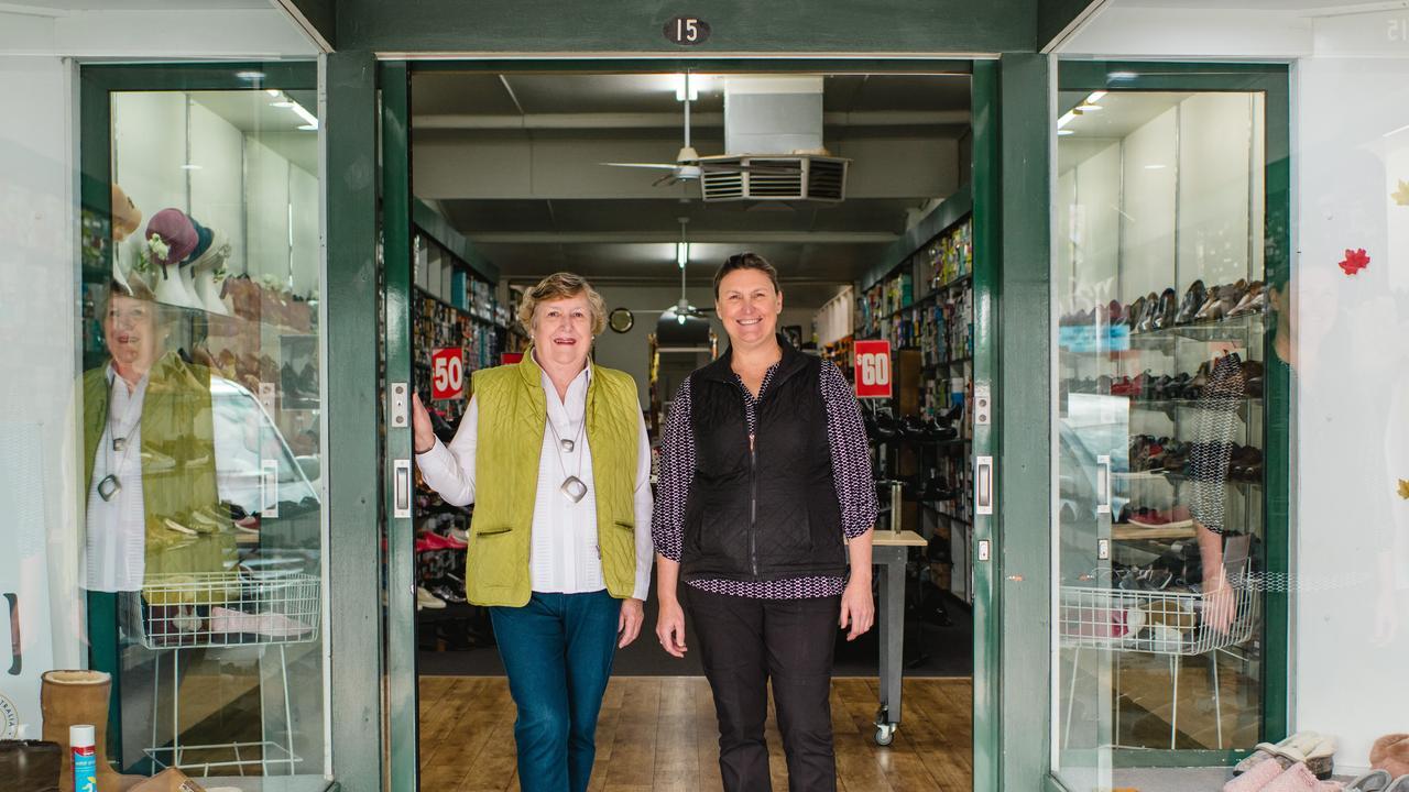 Maureen Hartman and Melinda Daniel from Schrecks Shoe Store.