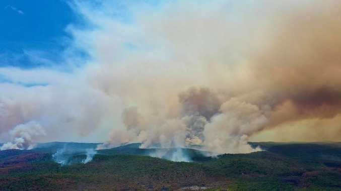One million litres of water dropped on bushfire
