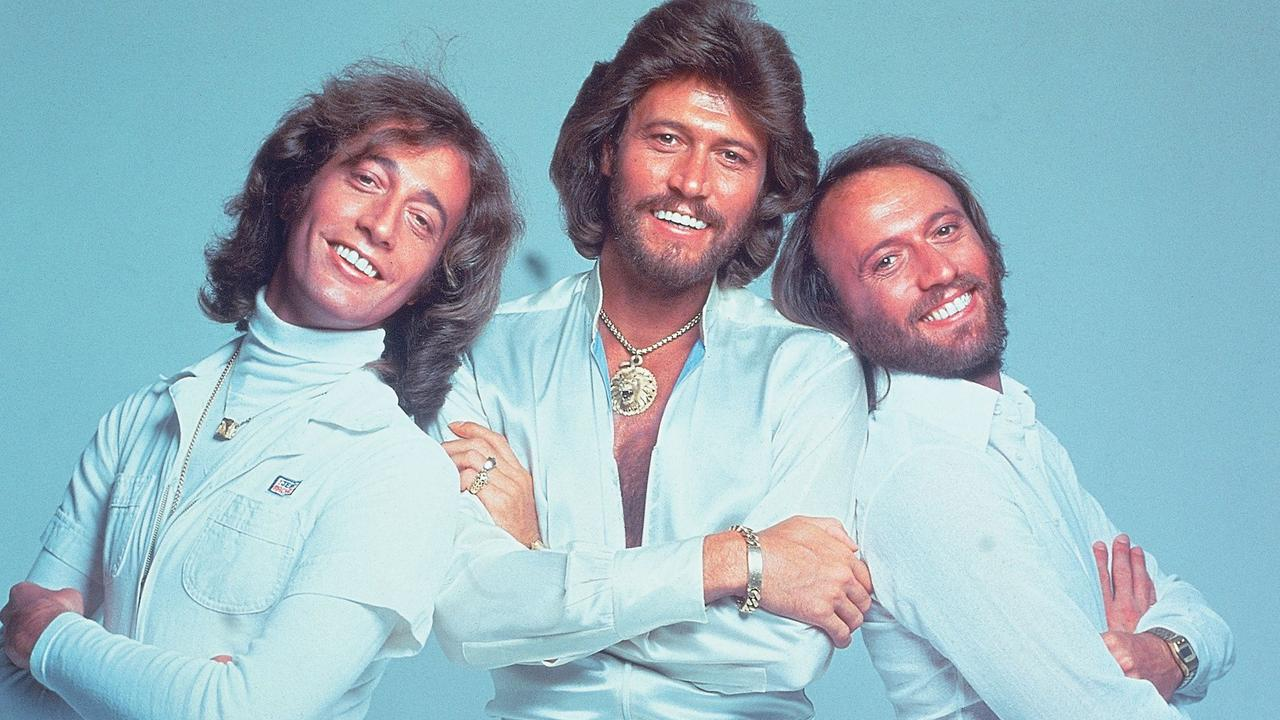 The Bee Gees – Robin, Barry and Maurice Gibb, in 1977. Picture: Supplied