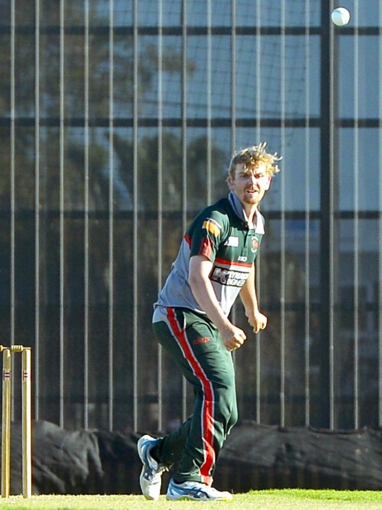 Walkerston bowler Joel Bock. Photo: Callum Dick