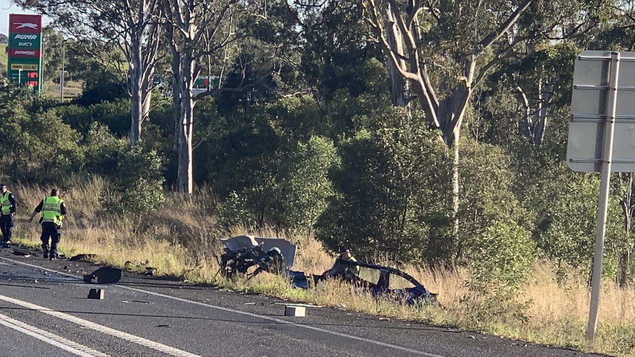 The scene of a fatal crash at Tinana in August.
