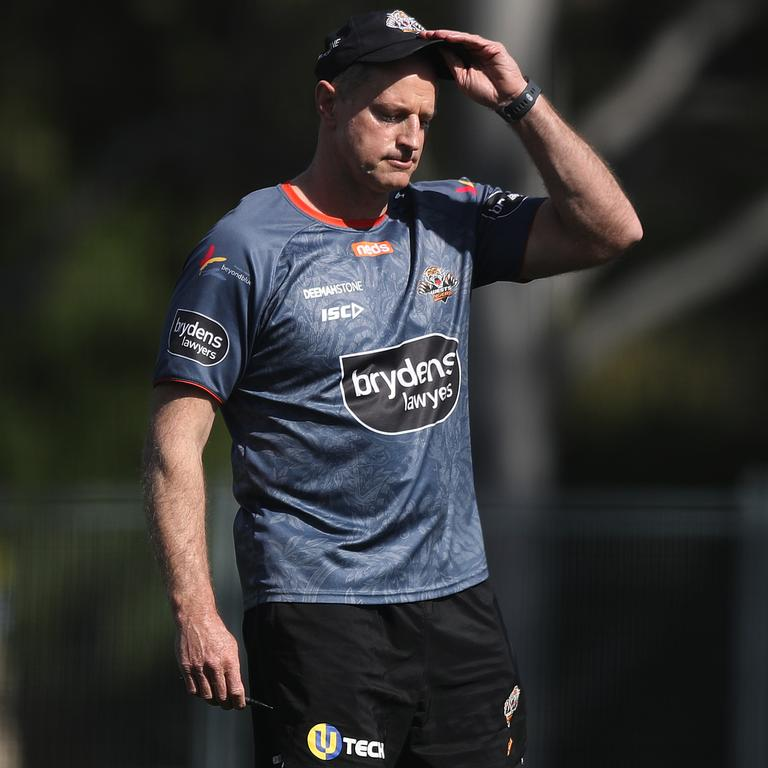 Michael Maguire hasa long hot summer planned for his players. Picture: Brett Costello