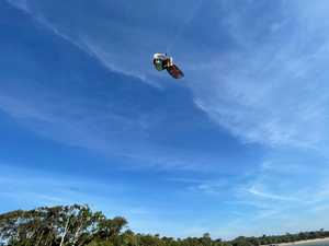 Kitesurfers flying high in Noosa