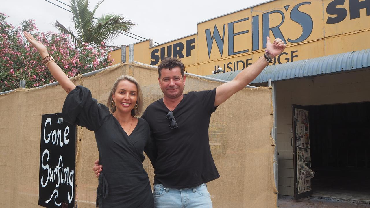 Ocean Addicts owners Luke and Jacinta King will relocate their Aerodrome Rd store to the former Weir's Surf Shop site at Cotton Tree.