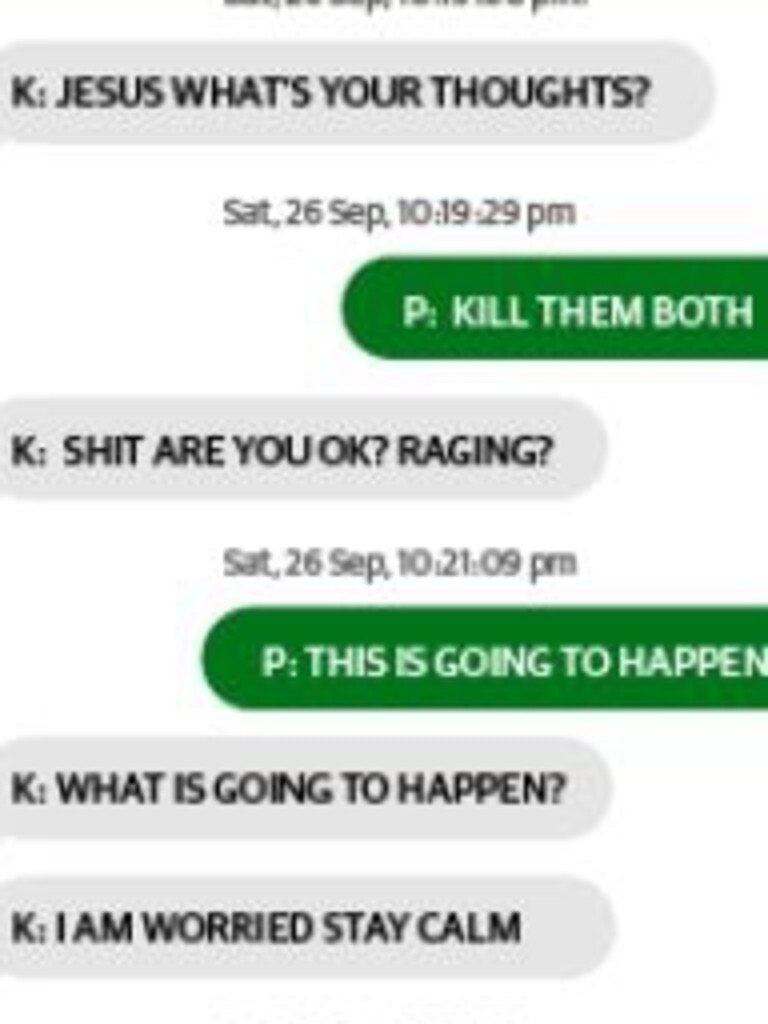 Deleted texts recovered from Dane Andrew Pilcher's phone that were tendered to the court.