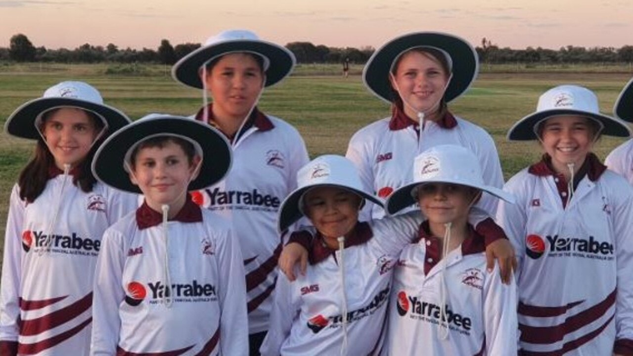 The Blackwater Bilbies Junior Cricket Club are thrilled with their new sun-safe gear which was bought with a $2500 donation from Yancoal's Yarrabee Coal Mine.