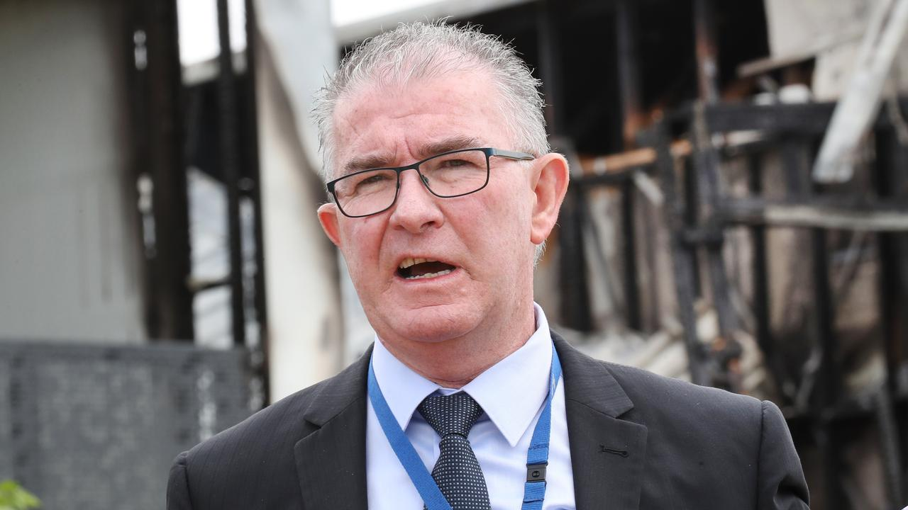 Arson and explosives squad Detective Senior Sergeant Mark Kennedy says the fire was suspicious. Picture: NCA NewsWire/David Crosling