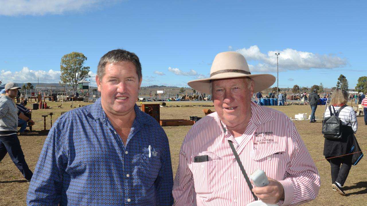 Allora Show Society president Mark Pillar will help organise the day as auctioneer Stuart Bond takes the sale away.