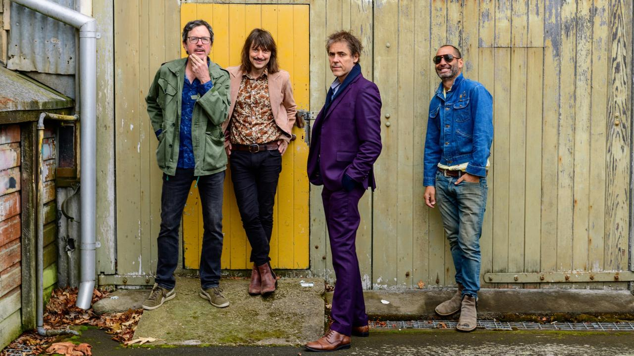 (from left) Warwick Hornby, Jak Housden, Tim Freedman, and Terepai Richmond of The Whitlams. Picture: Scott Gelston