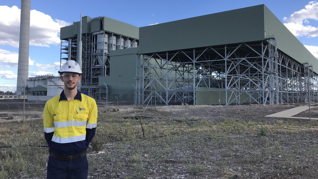 COAL FIRED FUNDING: Cairns engineering student Toby Medway at the Kogan Creek Power Station near Chinchilla. Picture: File