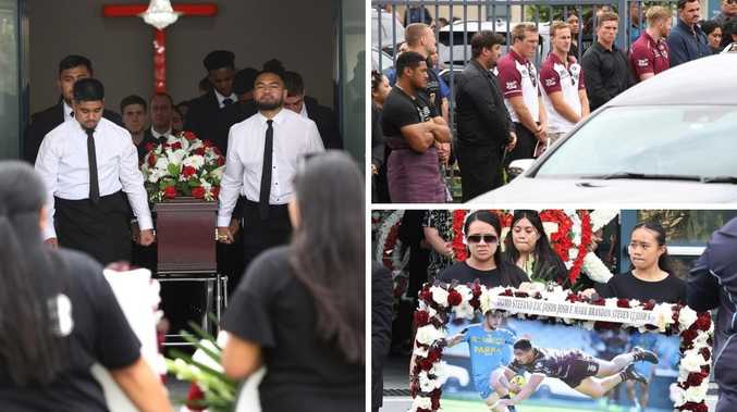 Mourning family, Manly players farewell 'inspiration'