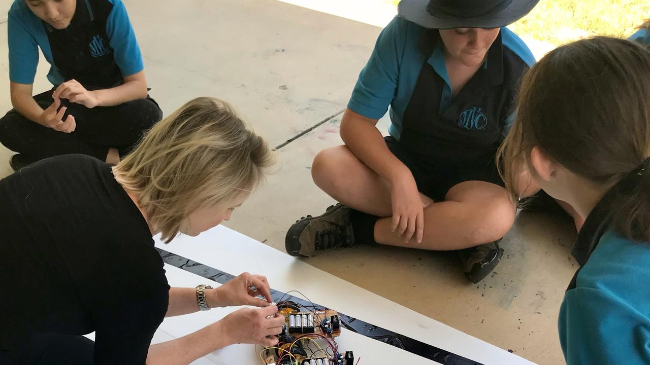 Gympie Year 7s have been given the chance to design a self-driving car as part of a USC program helping prepare them for the high-tech jobs of the future. Picture: Supplied