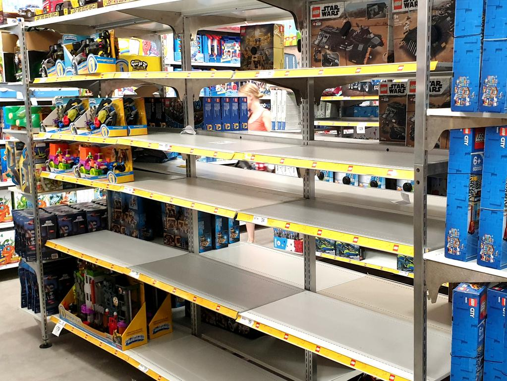 Empty shelves at Target Chermside