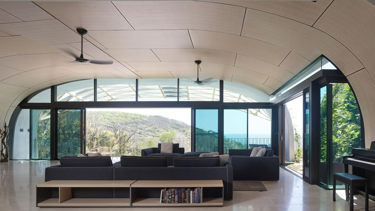 Inside the home, Domic, in Sunshine Beach. Photographer: Scott Burrows.