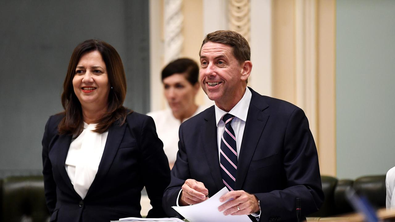 Queensland Treasurer Cameron Dick prepares to deliver his first state budget at Parliament House. Picture: NCA NewsWire / Dan Peled