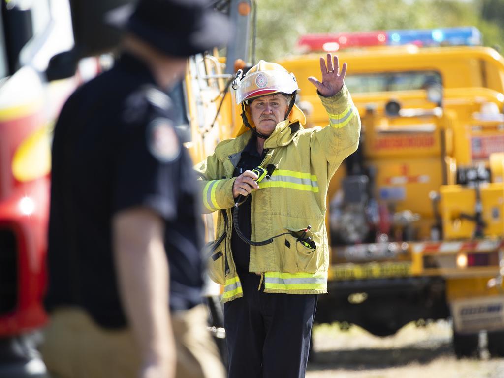 Fire crews are on scene at a bushfire at Meridan Plains. Picture: Lachie Millard/ File