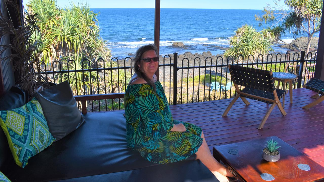 Corrine Santo and her husband have been hosting guests from all over the world at their oceanfront Air BnB for the last four years. Picture: Rhylea Millar