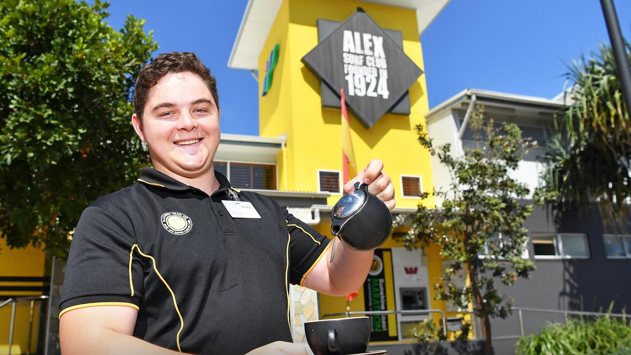 The Alex Surf Club has been voted the best club on the Sunshine Coast for 2020. Pictured is staff member Perry Reeves. Picture: Patrick Woods