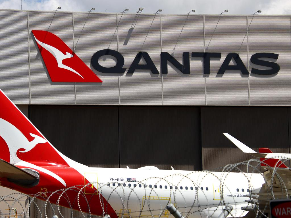 A Qantas maintenance facility at Brisbane Airport