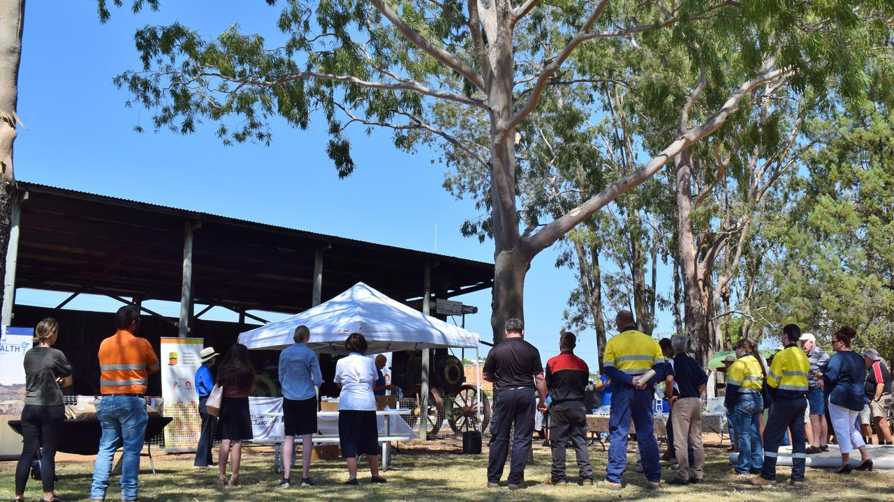DURING a day of camaraderie and support, the CCCI and Origin Energy brought the Chinchilla community together to raise awareness and promote men's' health and wellbeing, at the Chinchilla Men's Shed. Pic: Peta McEachern