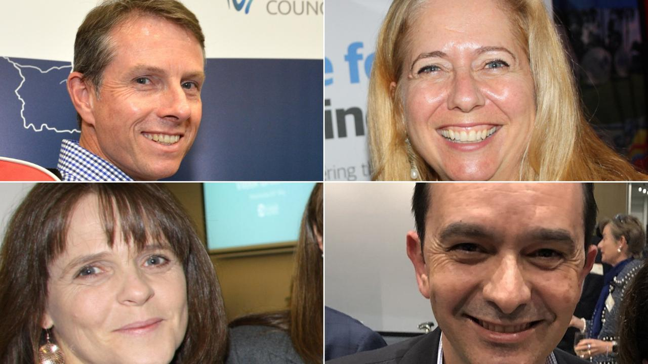 Talents that have departed Sunshine Coast Council for Moreton Bay Regional Council include, clockwise from top left, Andrew Ryan, Anne Lawrence, Paul Martins and Kerrianne Haggie.