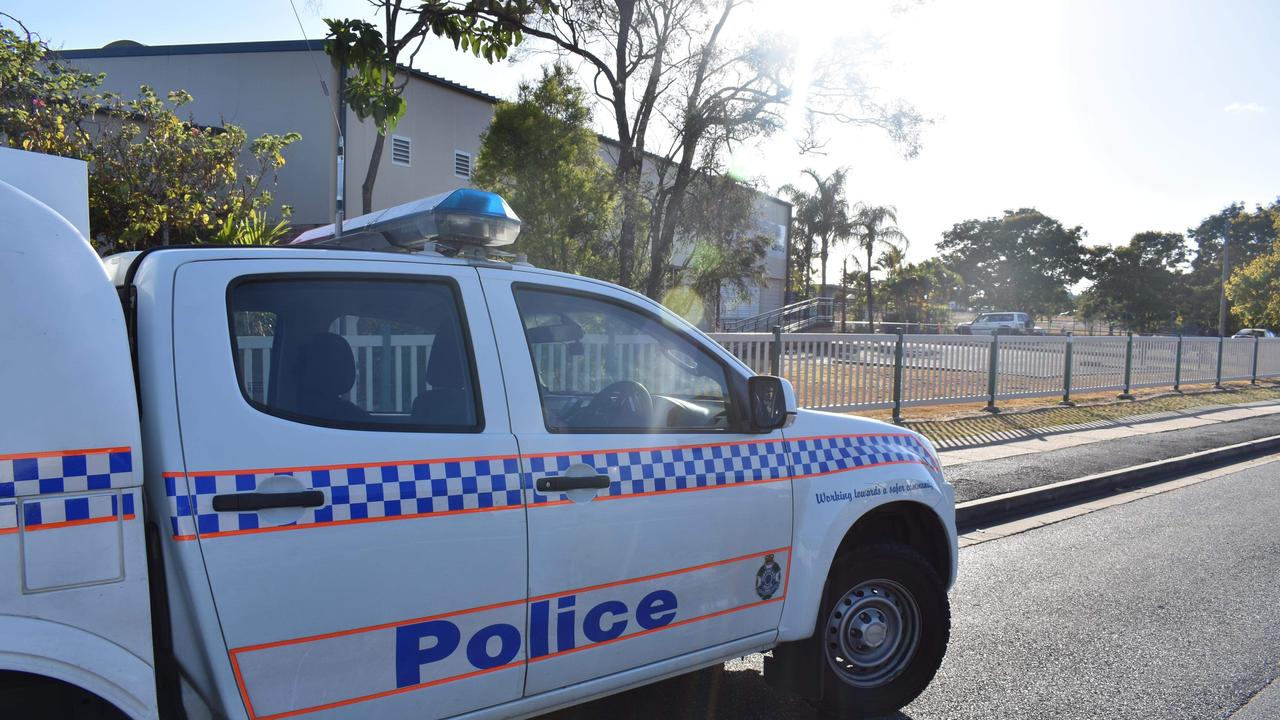 Rockhampton State School cordoned off with police tape.