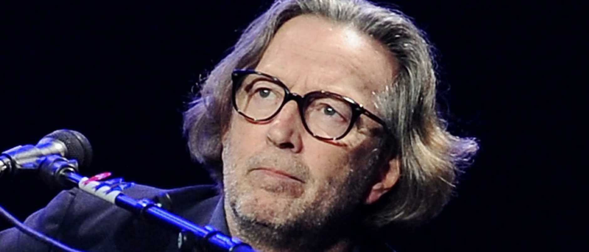 Guitarist Eric Clapton performs in concert at Madison Square Garden on Thursday, Feb. 18, 2010 in New York. (AP Photo/Evan Agostini)