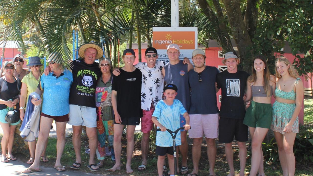 The Hickson family, after missing many family milestones this year, caught up for a family reunion in Byron Bay recently.